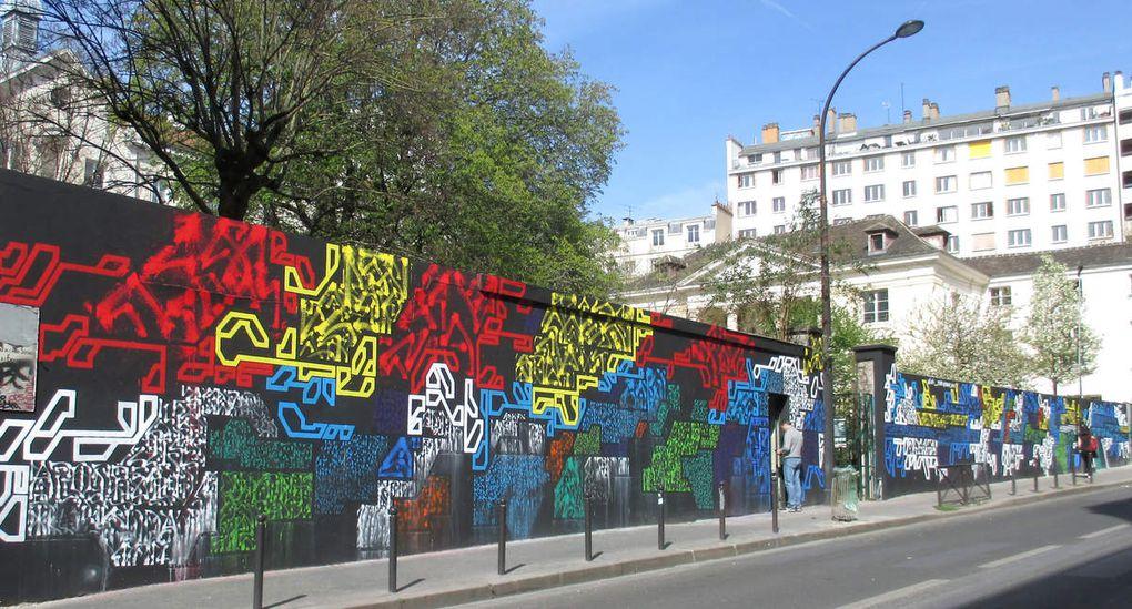 Le Mur du Pavillon Carré Baudouin par Lek et Sowat