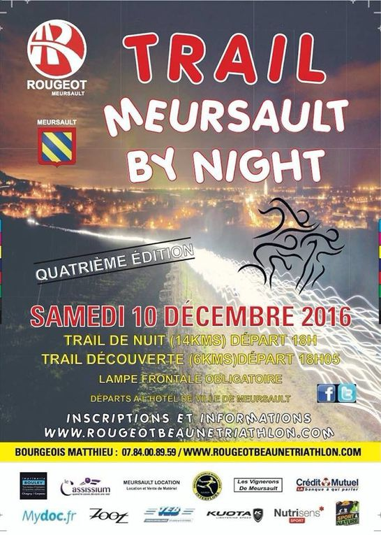Trail Meursault by night !