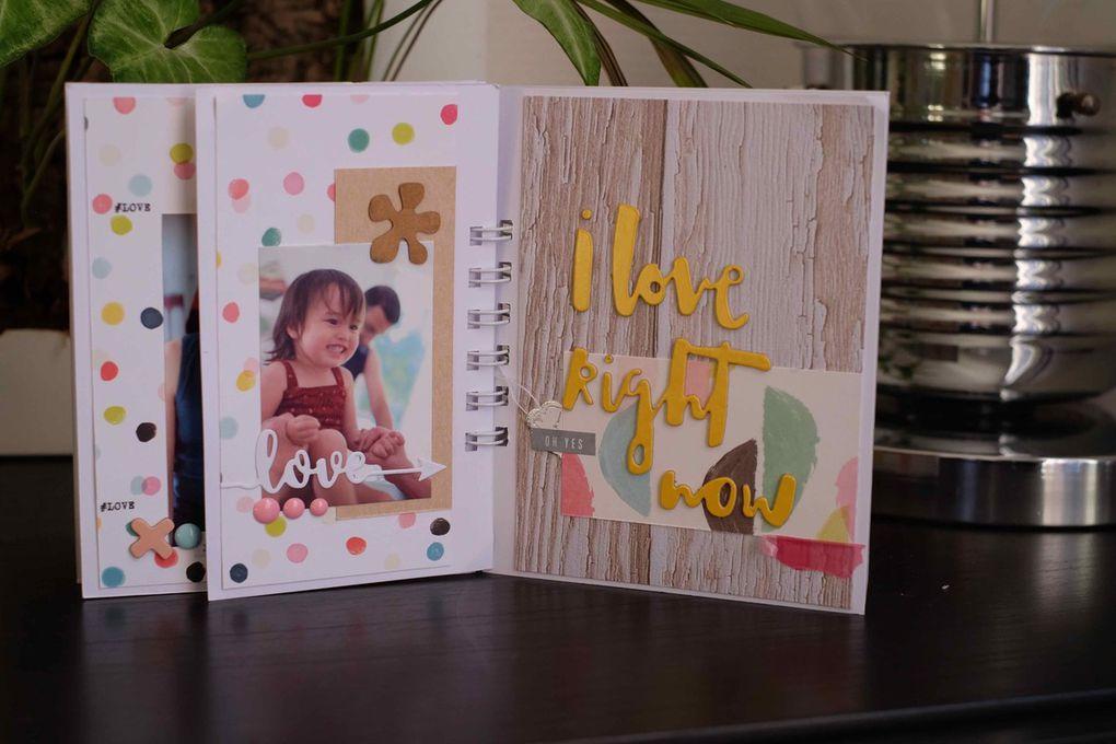 Des vacances en famille et des jolis papiers = un chouette mini album !!
