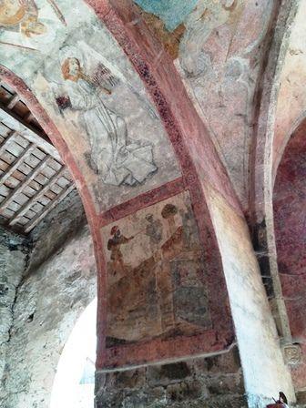 Andressein : les fresques de l'église Notre-Dame-de-Tramesaygues.