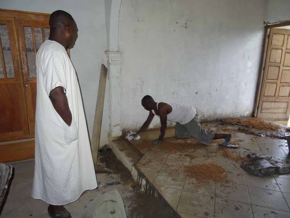 Quelques réamenagements en cours au Presbytère de Mbandza-Ndounga
