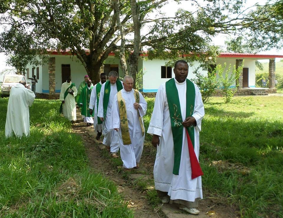 Lors de la visite d'une délégation du clergé de Tarnow avec l'évêque auxilliaire