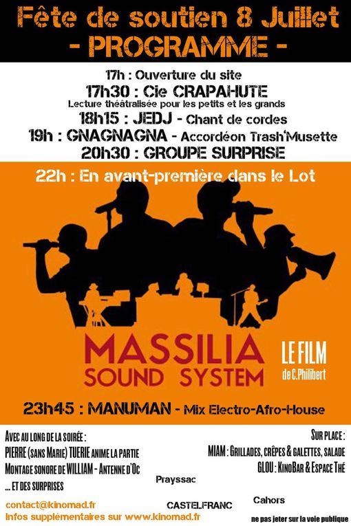 Fête de soutien à Kinomad -  Samedi 8 Juillet à Castelfranc