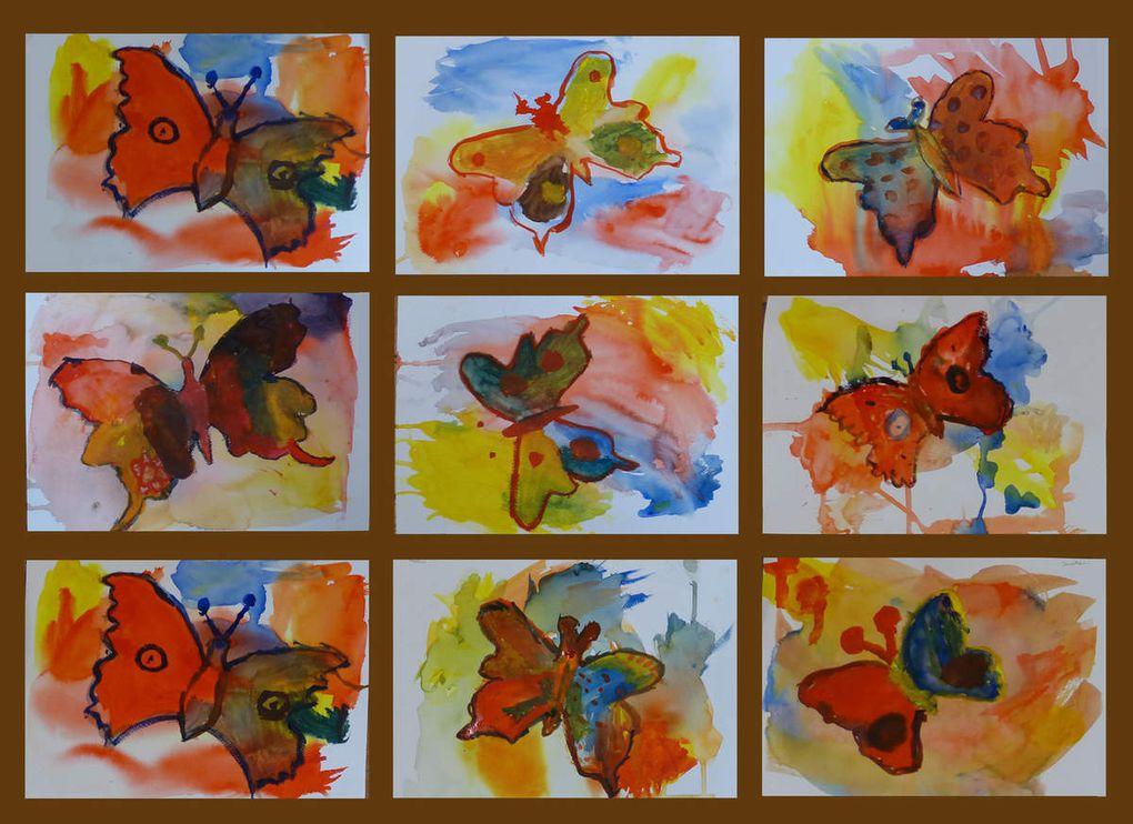 Initiation à l'aquarelle dans le écoles de St Macaire 49