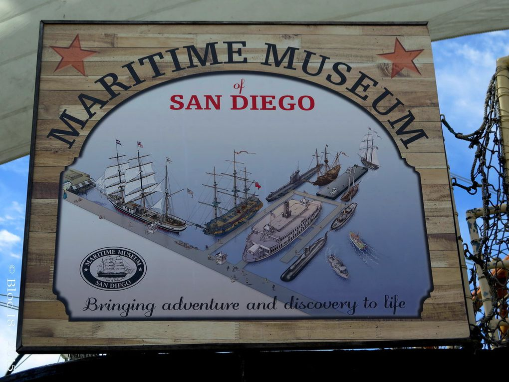 "San Diego Airport, Point Loma (Shelter Island), Seaport, Downtown, les plages, La Jolla Cove, Old Town, USS Midway Museum, Maritime Museum (""Star of India"", caravelle ""San Salvador"", sous-marin soviétique, ""Surprise"", sous-marin américain )"