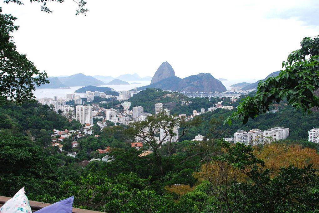 Vue sur Rio de Janeiro de la terrasse de la Guest House Altos de Santa Teresa.