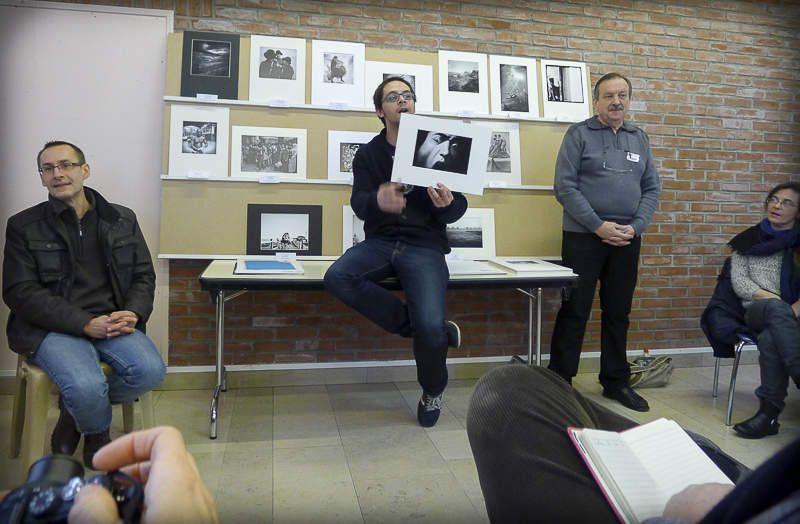 Dimanche matin 5 février : discussion à propos des photos et des écarts de notes, puis pot avec les élus et les organisateurs
