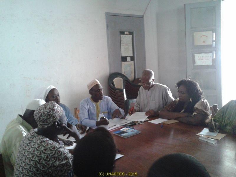 Le 19 avril 2015, le Bureau National s'est réuni à l'IDEN de Rufisque en présence de la presse