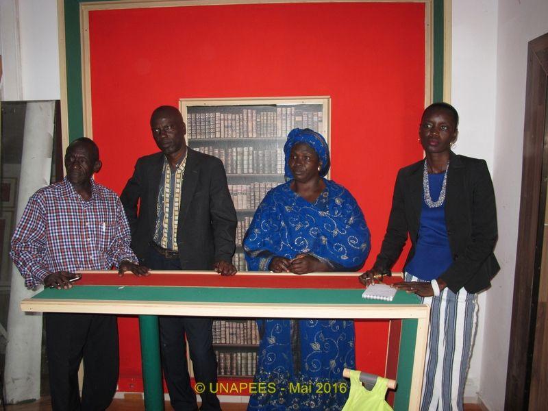 l'UNAPEES visite Télé-Ecole (les photos et la vidéo)