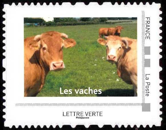 Les vaches &quot&#x3B;timbrées&quot&#x3B;
