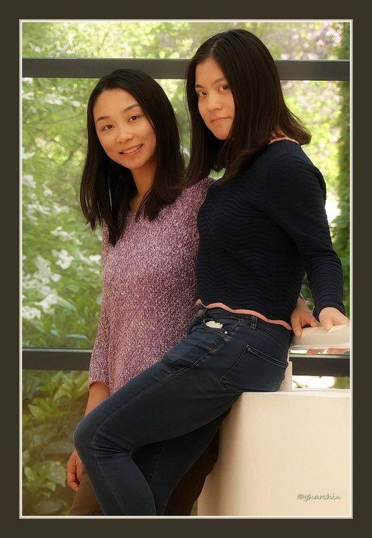 WE de Paques à St Pierre . FEI ET DAOXI deux petites princesses de Chine en visite.