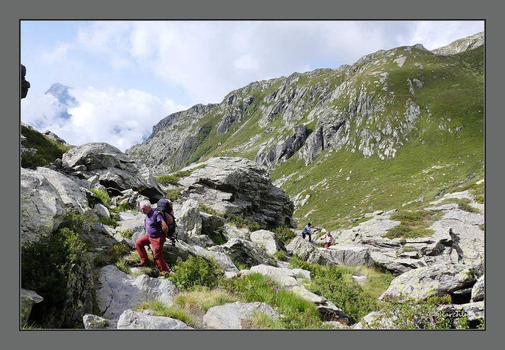 La montée au col du Tachuy à partir de Pierre Giret.