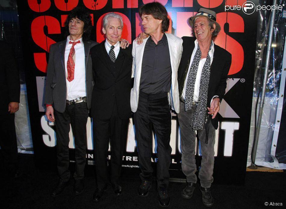 Mick Jagger et Keith Richards sur scène à New-York en septembre 2002 - Les Rolling Stones à la première du film leur étant consacré, Shine a Light, à New-York, en mars 2008 - Les Rolling Stones au Festival International du Film de Berlin, en février 2008