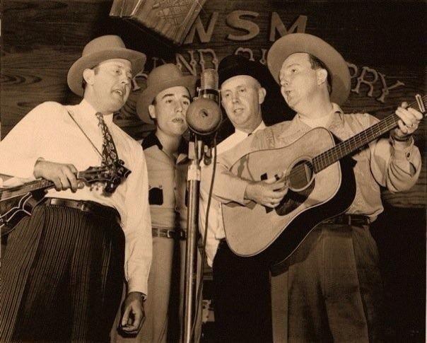 Bill Monroe, Earl Scruggs, Birch Monroe, Lester Flatt