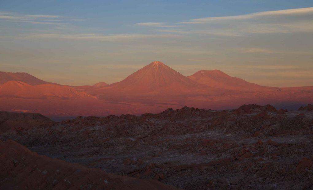 Coucher de soleil sur la Valle de la Luna
