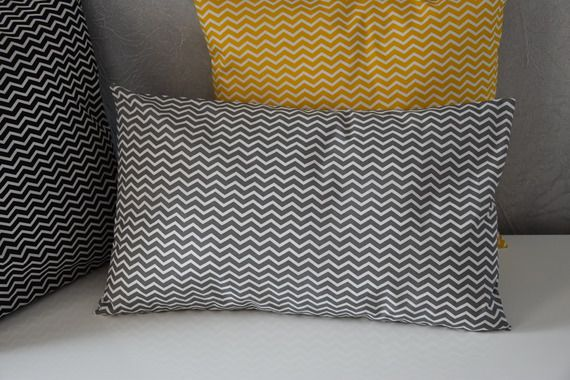 housse de coussin 40 x 40 cm tissu imprim chevrons tendance scandinave aw creations. Black Bedroom Furniture Sets. Home Design Ideas