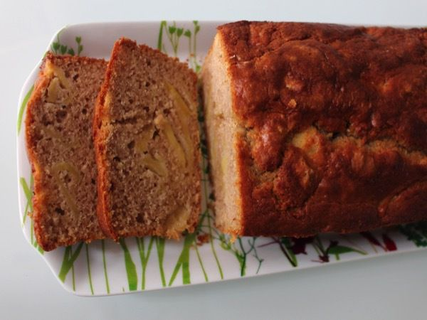 Cake aux pommes caramélisées et crème de châtaignes
