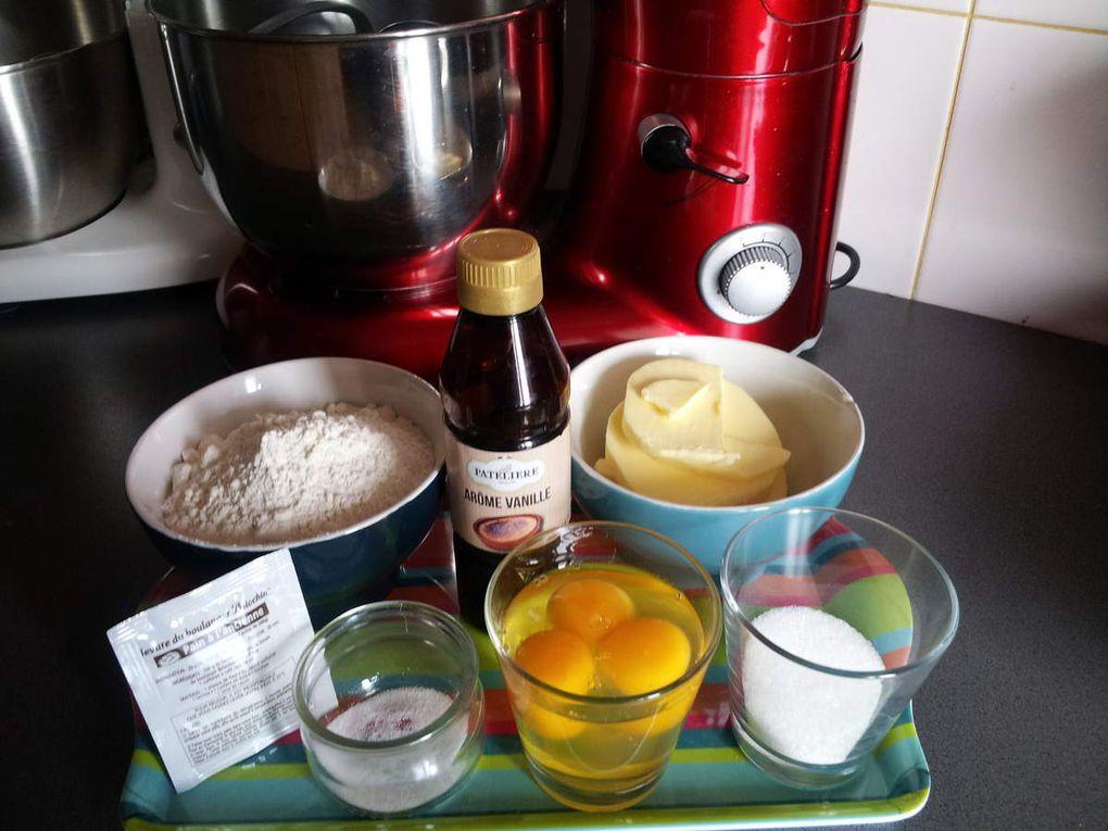 Brioches à Tête recette du chef Felder : Pour 6 petites brioches et une grosse, toutes faites par mon fils Quentin ( 15 ans) de A à Z