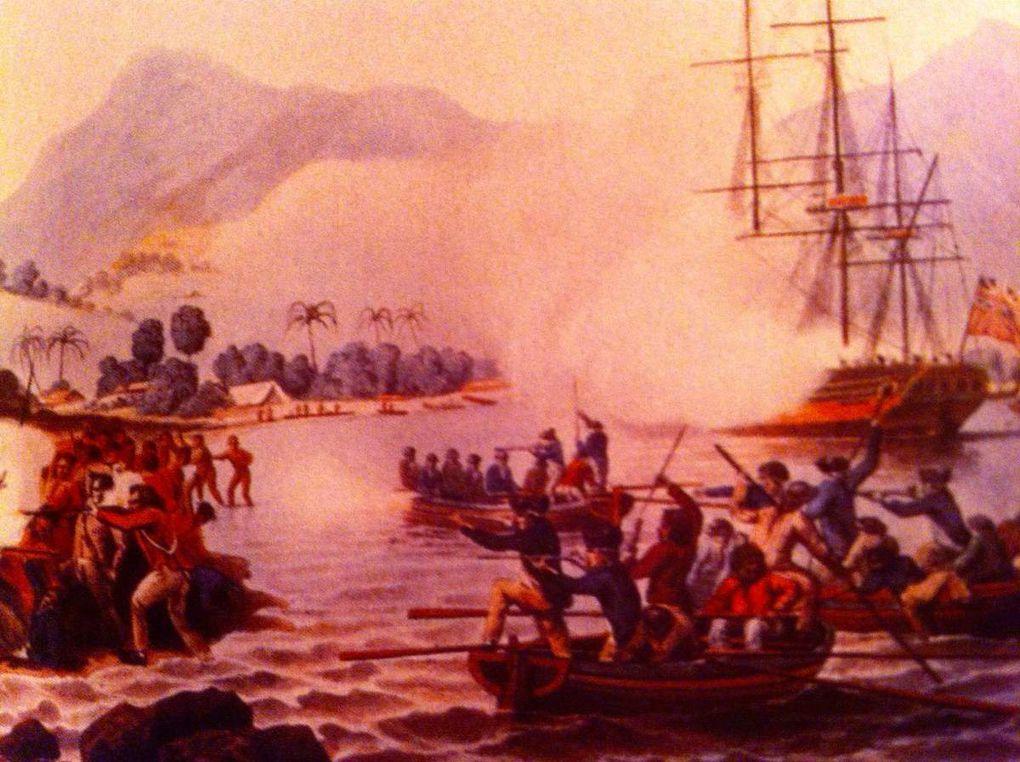 Ile de Pâques, la Baie de Cook Ile de Pâques, Assassinat du Capitaine Cook le 14 Février 1779 Baie de Kealakekua à Hawaï, Débarquement de la Pérouse à Hawaï.