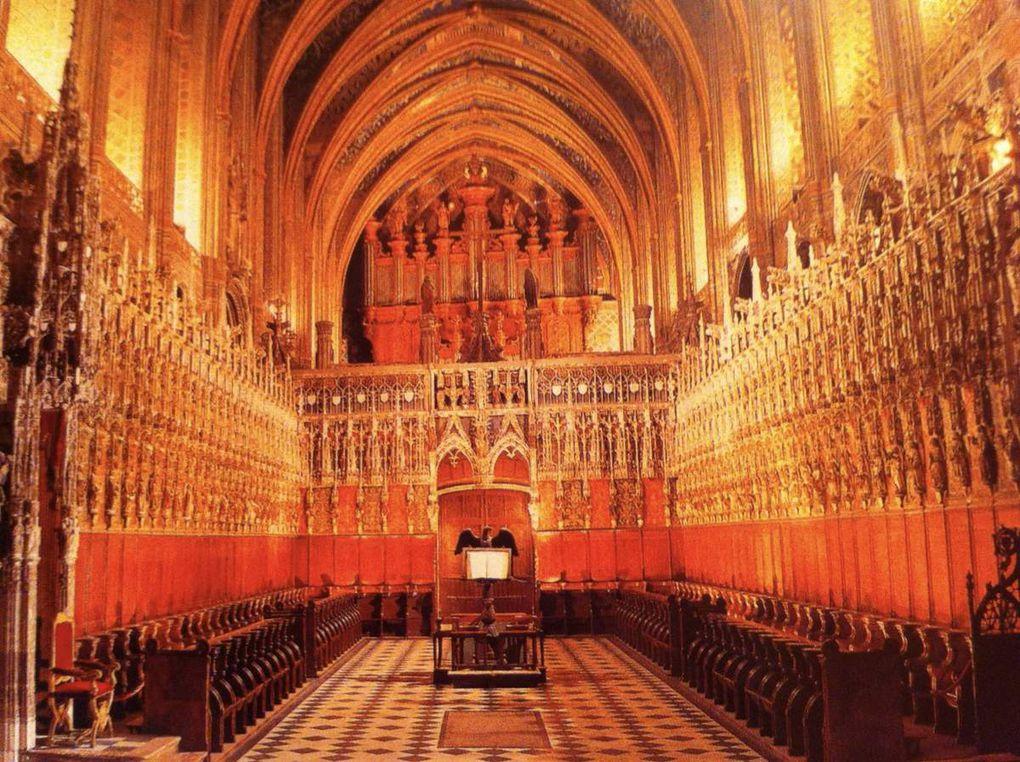 Cathédrale Saint Cécile Albi, c'est à l'intérieur, les enfers.