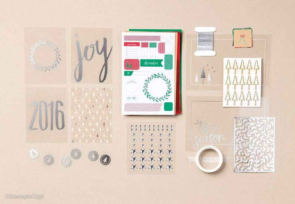 project life Stampin'up Noël 2016