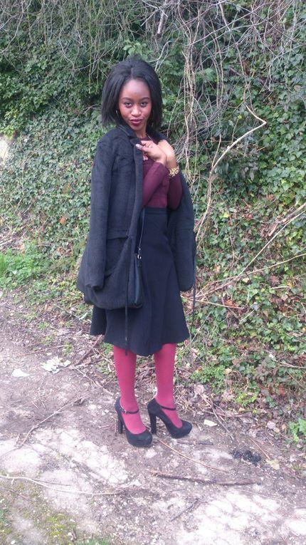 Look n°7: le collant bordeaux