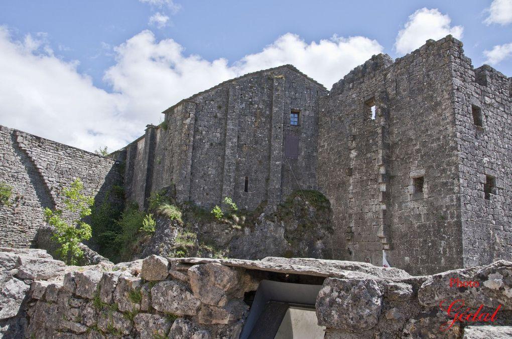 Le château vu  du cimetière.