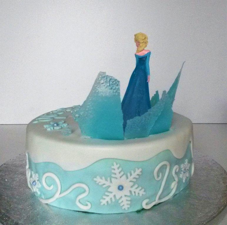 Gâteau Elsa Reines des Neiges