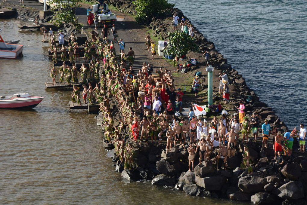 L'accueil au débarcadère de Hiva Oa