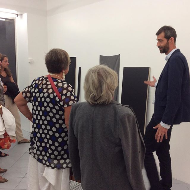 JaZon Frings @MFC Michèle Didier ,  Jérôme Pauchant devant l'oeuvre de Quentin Lefranc, Esther Stocker@Alberta Pane, Pedro Varela @MDM gallery, Extrait de l'oeuvre de Benjamin Collet: She smelled all unexpected, 2015 @Jerôme Pauchant,  France Bizot@Backslash,Guy Yanai @Derouillon