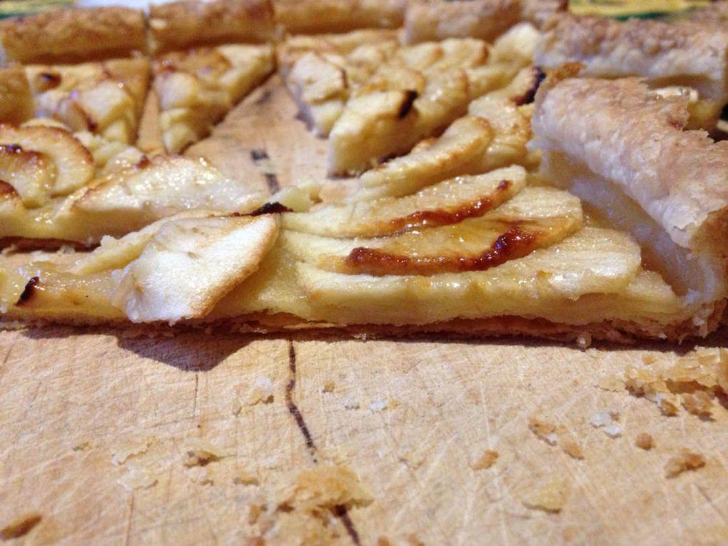 1ère pâte feuilletée : tarte aux pommes