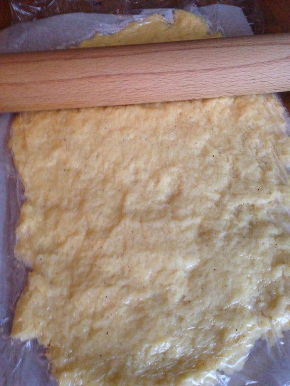 Croque polenta bacon