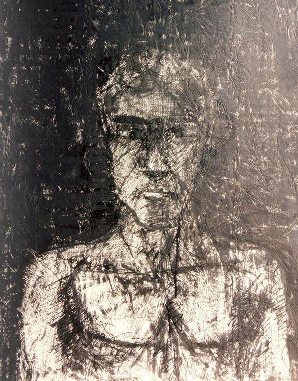 """Encre noire sur papier """"Elephant"""", 50 cm x 70 cm, à partir de modèles vivants"""