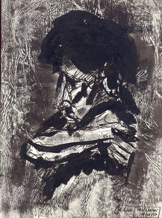 """Encre noire sur papier """"Elephant"""", 21 cm x 29 cm, à partir de modèles vivants"""