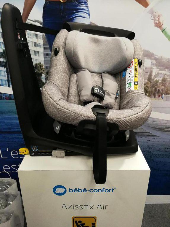 Les nouveaux siège auto Bébé Confort : le Axissfix Air, premier siège pivotant avec Airbag intégré et le Rodi Air protect, sans accoudoir pour faciliter la bonne mise en place de la ceinture pour les loulous autonomes.