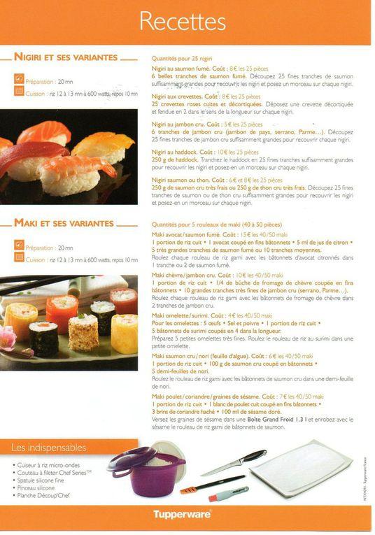 Sushi maki nigiri crudités japon asie