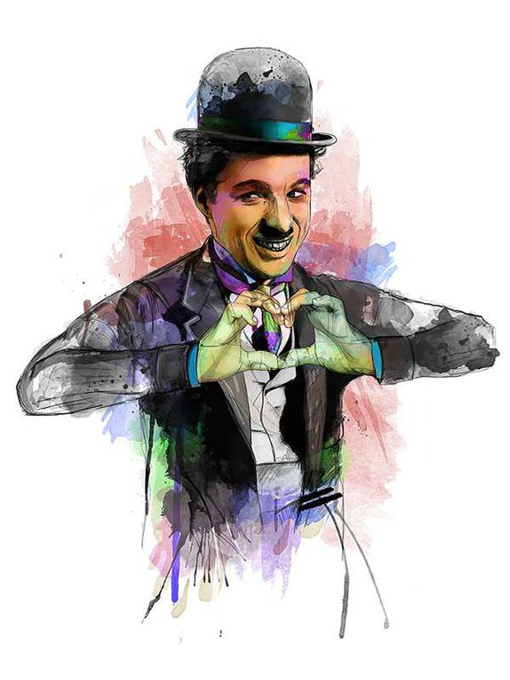 CHARLY CHAPLIN ET CLOWN BLANC !!!