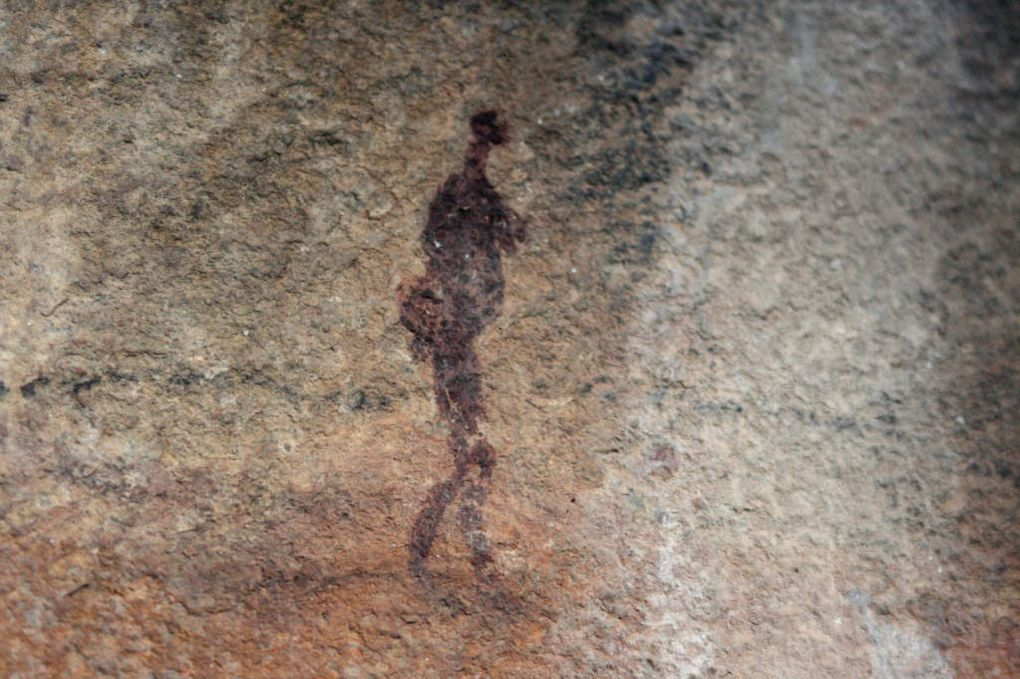 Small slides of cave paintings.