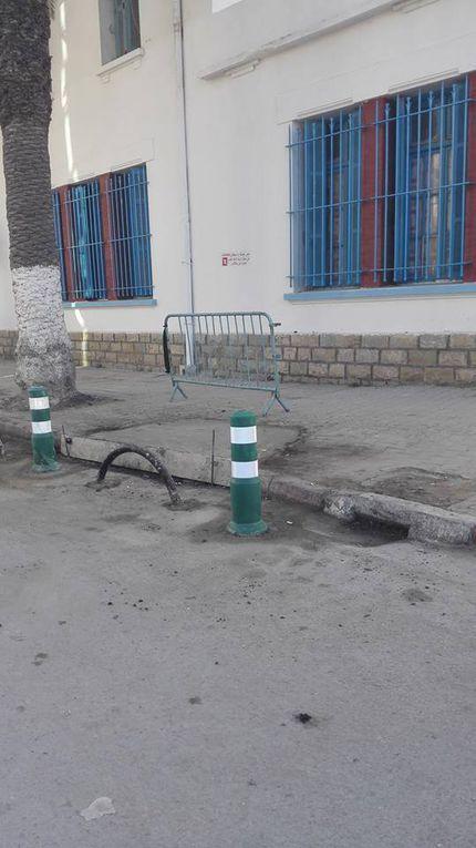 Environs des écoles Menzah 5, Ezzahra République, Bir Ali et  ville de Kelibia. Action de Menzah 9B.