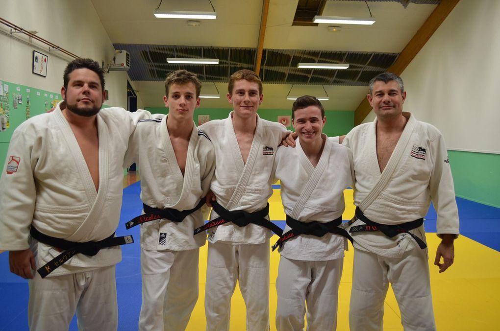 Matisse Bizouarrn, Fabien Guénan et Nicolas Moy nouveaux promus ceintures noires 2ème dan