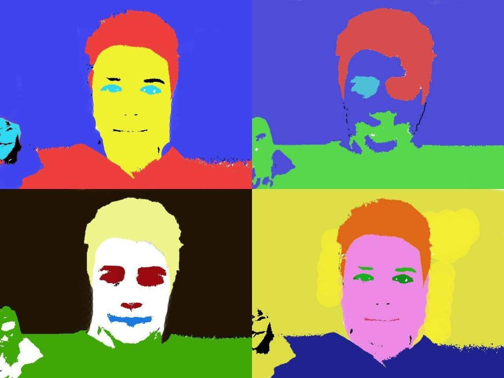 During the mobility week in Italy the students used their ICT skills to create their own portrait according to the Andy Wahrrol technique. They took a picture of themselves and modified it according to their creativity