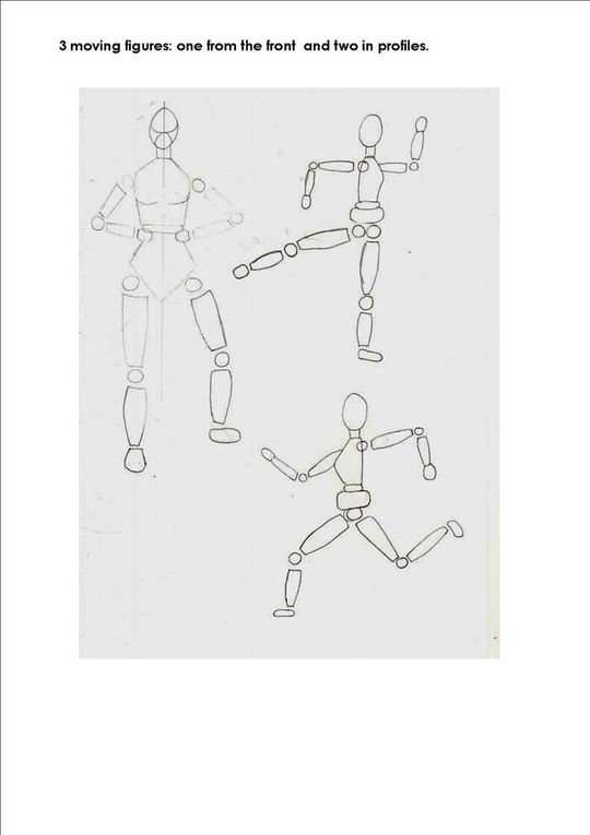 AA1 Drawing the body