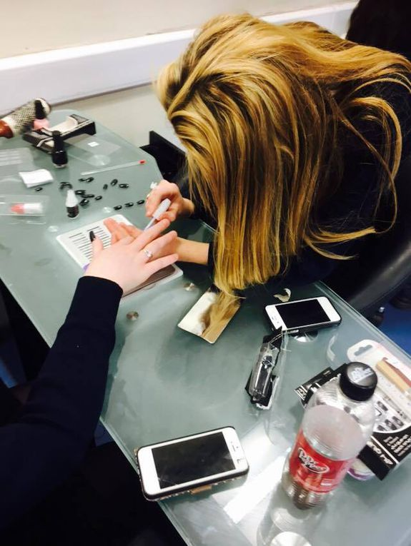 Students in the Hair and Beauty section have been learning how to apply false nails and create different designs on each others nails.