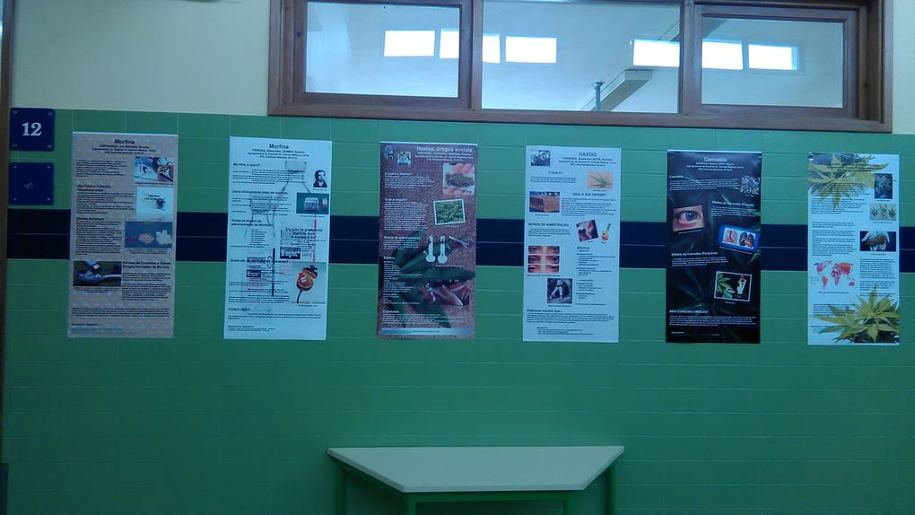 Scientific posters regarding Health made in the Science lessons – 9th grade - about dependences with and without substances.