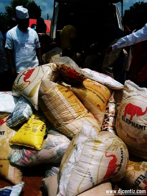 Relief materials distributed to the warring communities in North Ukelle by Government Agencies.