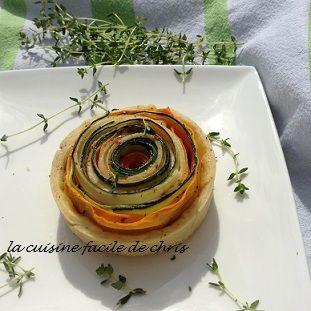 Tartelettes de légumes fleurs