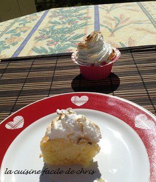 Cupcake façon tarte citron meringuée