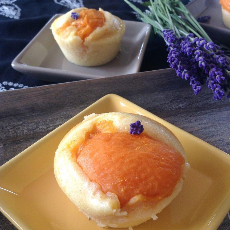 moelleux à l'abricot et à la lavande