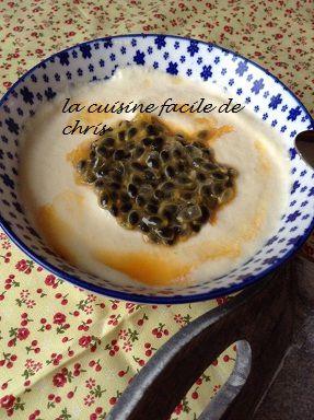 Mousse mascarpone aux fruits de la passion