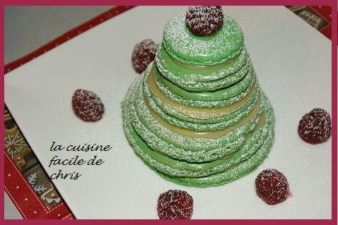 Sapin de Noël macarons